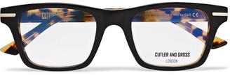 Cutler And Gross Cutler and Gross - Square-Frame tortoiseshell Acetate Optical Glasses - Men - Black