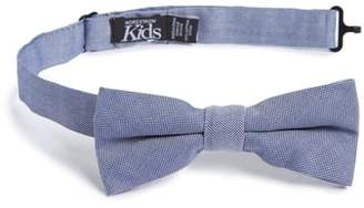 Nordstrom Chambray Silk Bow Tie