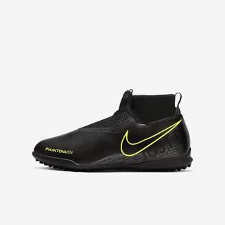 Nike Little/Big Kids' Turf Soccer Shoe Jr. Phantom Vision Academy Dynamic Fit TF