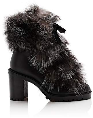 Christian Louboutin Women's Fanny Leather & Fur Ankle Boots