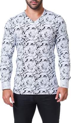Maceoo Edison Haring V-Neck T-Shirt