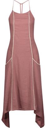 Vix Solid Cleo Linen-Blend Midi Dress $258 thestylecure.com