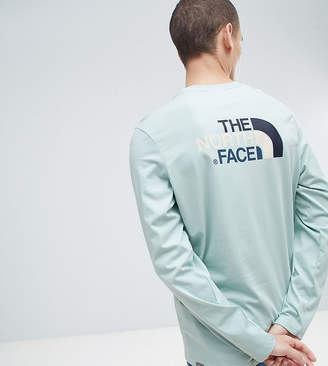 The North Face Exclusive to ASOS Long Sleeve Easy T-Shirt in Blue
