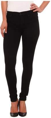 Hudson Nico Mid Rise Super Skinny Jeans in Black Women's Jeans