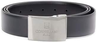 Corneliani engraved buckle belt