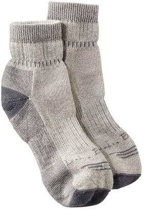 L.L. Bean L.L.Bean Men's Cresta Hiking Socks, Wool-Blend Midweight Quarter Crew, One Pair
