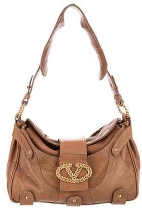 Valentino Textured Leather Shoulder Bag