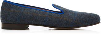 Stubbs & Wootton Exclusive Plaid Tweed Slippers