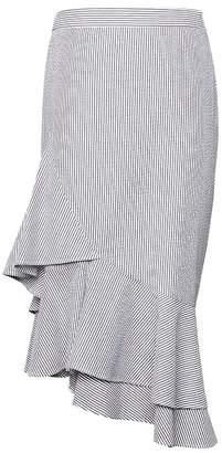 Banana Republic Seersucker Asymmetric Ruffle-Hem Skirt