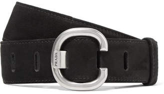 Prada Suede Belt - Black