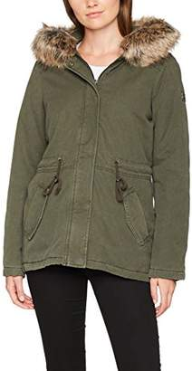 Tom Tailor Women's Cotton Parka with Fur Collar Jacket