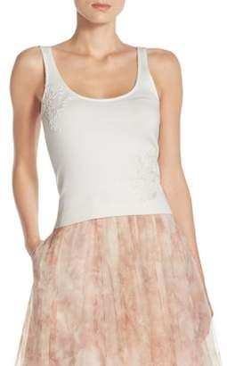 Jenny Yoo Cora Lace Detail Tank