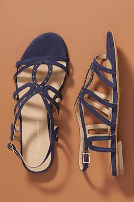 Anthropologie Ella Suede Strappy Sandals