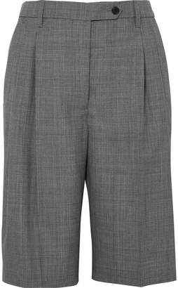 Prada Prince Of Wales Checked Wool Shorts - Gray