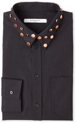 Givenchy Black Embellished Dress Shirt