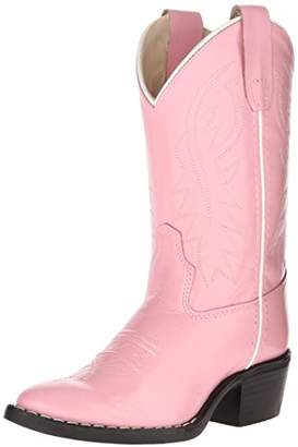 Old West Kids Boots Girl's J Toe Western Boot (Toddler/Little Kid) Boot 12.5 Little Kid M