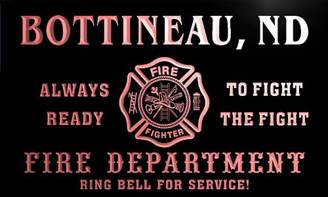 Dakota AdvPro Name qy62524-r FIRE DEPT BOTTINEAU, ND NORTH Firefighter Neon Sign
