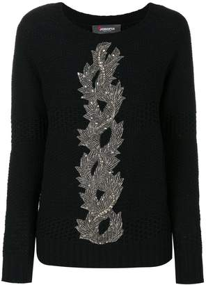 Jo No Fui embroidery knit sweater