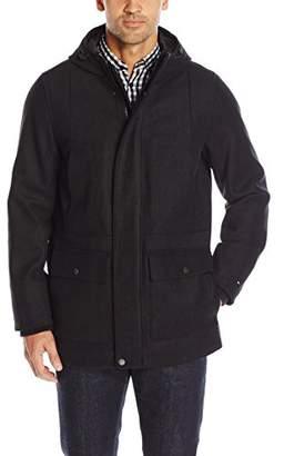 Tommy Hilfiger Men's Technical Wool Blend Hooded Stadium Jacket