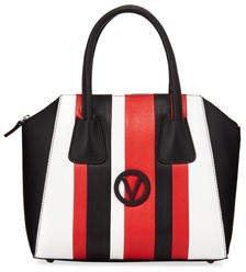 Mario Valentino Valentino By Minimi Striped Leather Satchel Bag