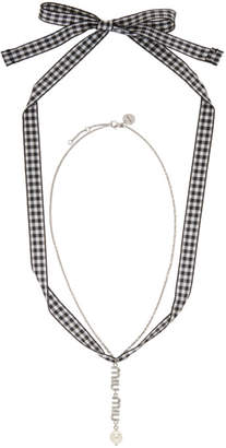 Miu Miu Silver Crystal Necklace