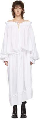 Marques Almeida White Pirate Shirt Dress