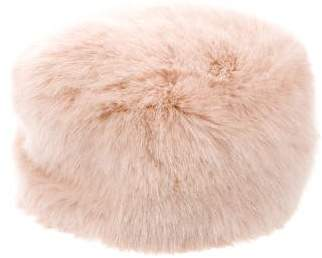 Ted Baker Bow-Embellished Faux Fur Hat w/ Tags