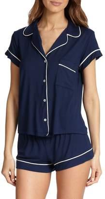 Eberjey Gisele Short-Sleeve Pajama Top and Shorts