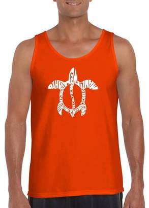 Los Angeles Pop Art Men's Tank Top - Honu Turtle - Hawaiian Islands