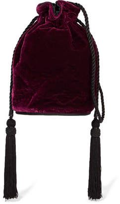 Tula Hunting Season Velvet Shoulder Bag - Burgundy