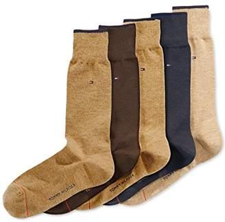 Tommy Hilfiger Men's 5 Pair Flat Knit Rayon Blend