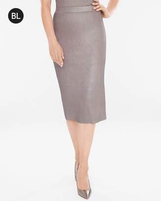 Black Label Foiled Skirt