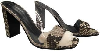 Celine Beige Plastic Sandals