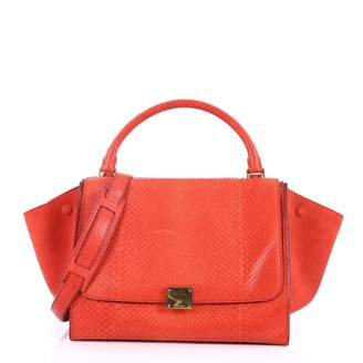 Celine Trapeze Red Exotic leather Handbag