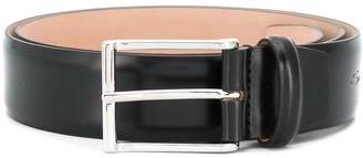 Santoni polished buckle belt