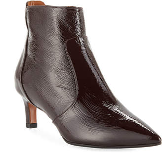 Aquatalia Marilisa Water-Resistant Shiny Leather Booties