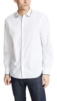 Officine Generale Gap Piping Seersucker Shirt