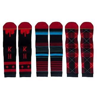 Buffalo David Bitton Feetalk Men's and Women's 3 Pack Combed Cotton Dress & Trouser Crew Socks check Pattern for Unisex()