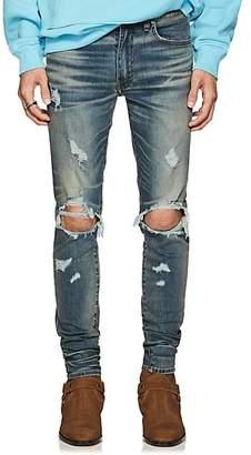 Amiri Men's Thrasher Skinny Jeans - Blue