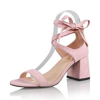 AIIT Women's Fashion Chunky High Heel Sandal Pump Shoe