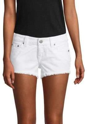 True Religion Keira Frayed Denim Shorts
