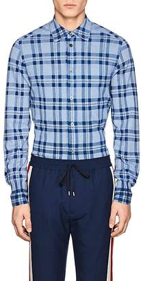 TOMORROWLAND Men's Plaid Cotton Knit Shirt