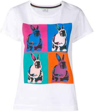Paul Smith rabbit pop-art print T-shirt