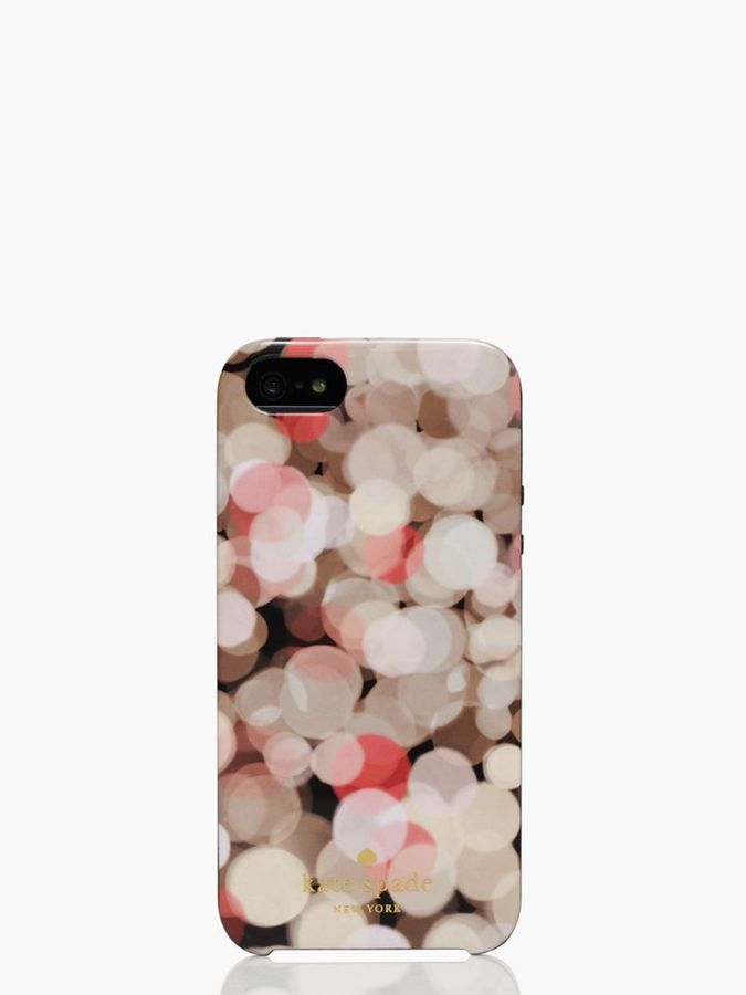 Kate Spade Festive bubbles resin iphone 5 case