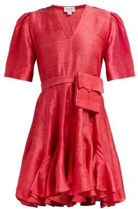 Rhode Resort Vivienne Slubbed Silk Dress - Womens - Red