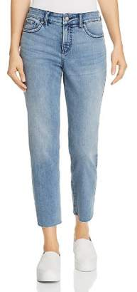 NYDJ Jenna Raw-Hem Straight Ankle Jeans in Pointe Dune - 100% Exclusive