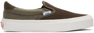 Vans Khaki OG Classic LX 59 Slip-On Sneakers $60 thestylecure.com