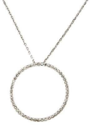 14K Diamond Circular Pendant Necklace