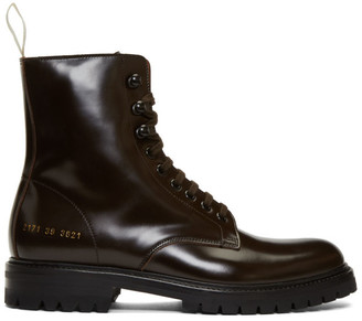 Common Projects Brown Combat Boots