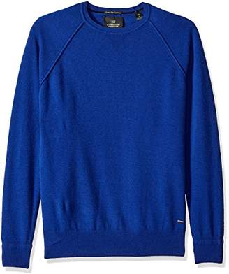 Scotch & Soda Men's Crewneck Pullover in 100% Cashmere Quality